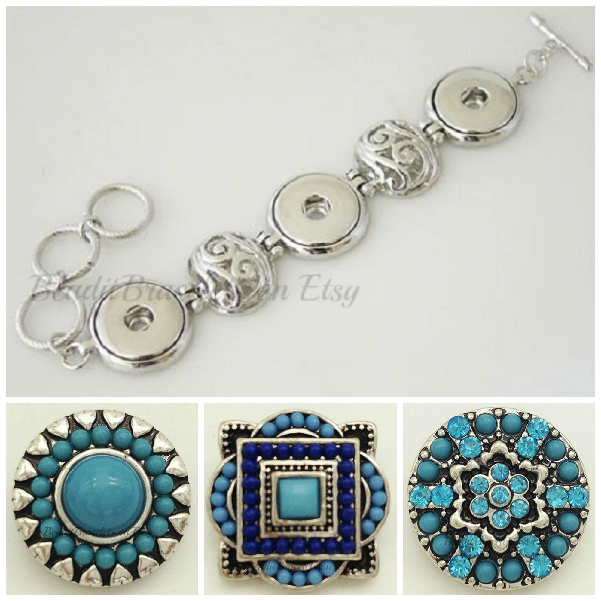 interchangeable with ginger snaps jewelry and noosa style