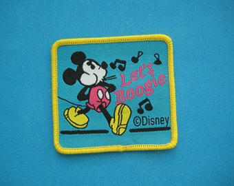 Sew-on Applique Mickey Mouse sing 2.4 inch
