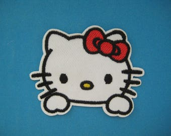 Iron-on Embroidered Patch Kitty Cat 2.75 inch