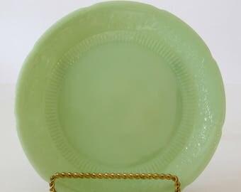 Vintage Anchor Hocking Fire-King Jadeite Alice Pattern Dinner Plate