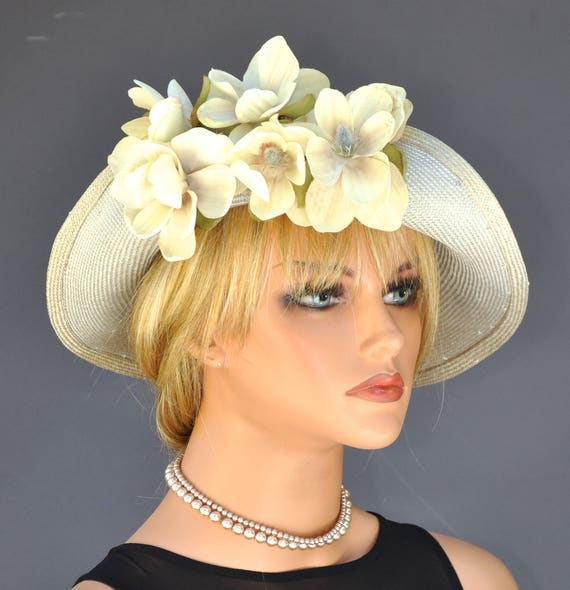 Wedding Hat, Headpiece, Fascinator, Kentucky Derby Hat, Church Hat, Fascinator Hat Mother of Bride Hat Ladies Summer Hat, Ocassion Event Hat