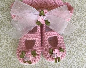 Keepsake Baby Girl Shoes & Headband Set