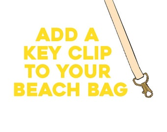 Add a Key Clip to Your Beach Bag