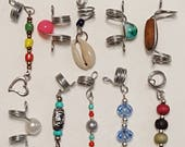 10 Pieces Loc Jewelry Starter Set Hair Accessory Dreadlock Beads Charms Ready to Ship