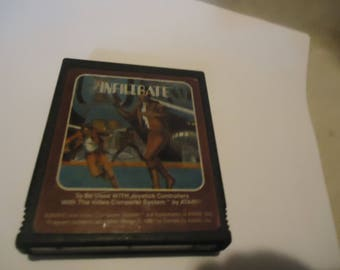 Vintage 1981 Infiltrate Atari Video Game By Apollo, collectable