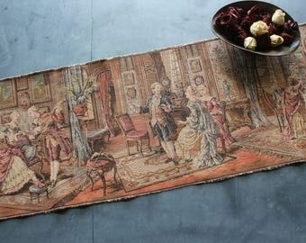Vintage Romantic Classical French Interior Tapestry Made in France