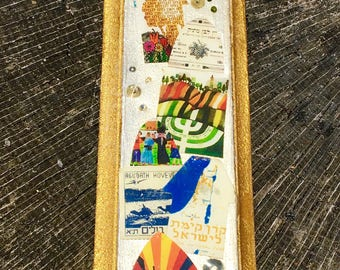 Gold and Ivory Collage Watch Parts Mezuzah on Etsy