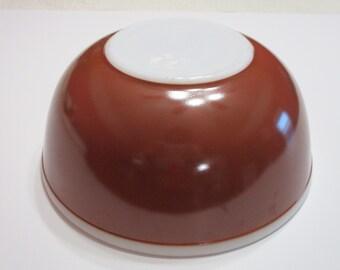 Vintage Pyrex Americana Chocolate Brown 4QT-404 Mixing Bowl-MINT
