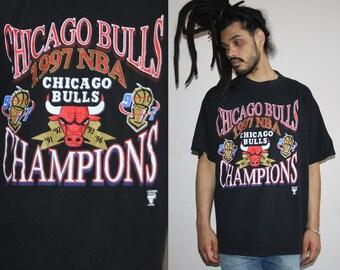 Vintage 1997 Chicago Bulls NBA Champs 90s Basketball T-Shirt - 90s Clothing - WTS134