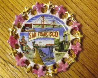 Vintage San Francisco California Keepsake  Wall Plate
