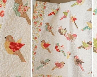 """THE PATTERN BASKET (Quilt Pattern): """"Feathers"""" - Design by Margot Languedoc"""