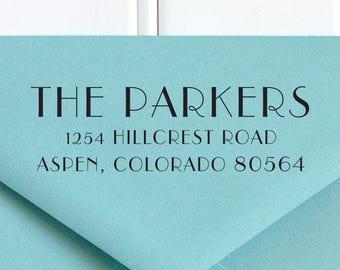 Return Address Stamp,  Address Stamp, Art Deco Stamp, Address Stamp, Wedding Return Address Stamp, RSVP Stamp, Custom Stamp - No. 44