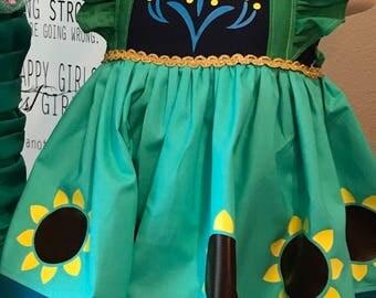 Custom Anna summertime inspired dress