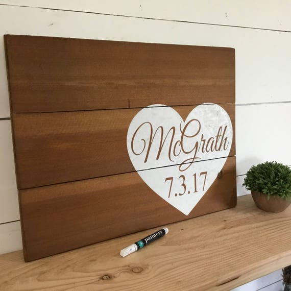 Rustic Wedding Guest Book Sign Wooden