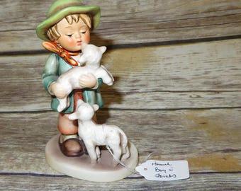 "1960-72 Shepherd's Boy #64 TMK3 1960-72 stands 6.50"" tall Hummel Goebel Boy with Lamb"