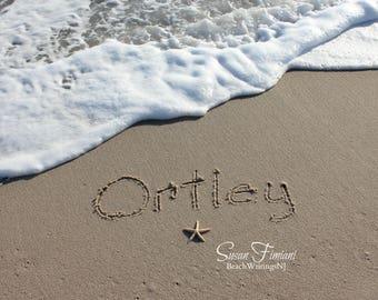 Ortley Beach Sand Beach Writing  Fine Art Photo Jersey Shore