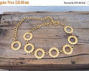 SALE Gold Ring Chain Adjustable Belt OSFM by Omega