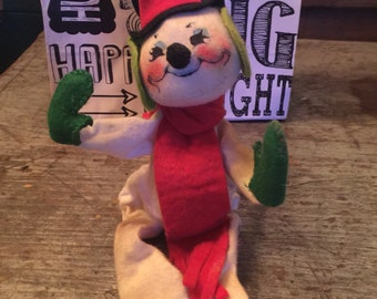 Vintage Annalee Dolls 1971 Holiday Christmas Snowman