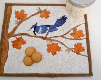 Blue Jay Snack Mat or Mini Quilt