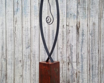 Abstract Metal art  indoor/outdoor garden sculpture   by Holly Lentz