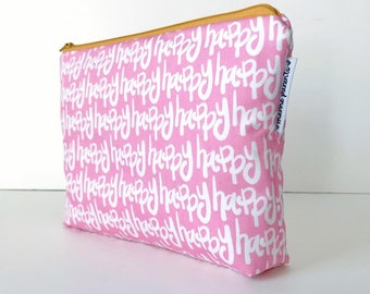 project bag -- happy in pink
