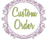Custom order for alisonh403: five hand knit shawl