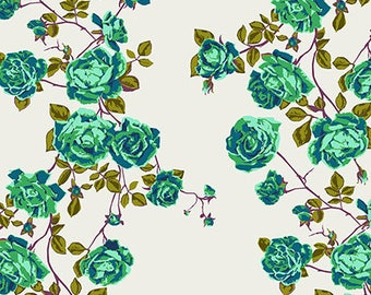 In stock Social Climber in Liche  from the Floral Retrospective fabric collection by Anna Maria Horner for Free Spirit fabrics