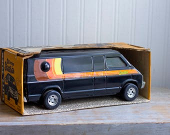 Vintage Toy  Dodge Street Van - ERTL Toy in Unopened Box - Retro 70's - Retro Collectible Automobile