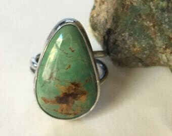 Kingman Turquoise Ring- turquoise ring, kingman turquoise, December birthstone, turquoise jewelry