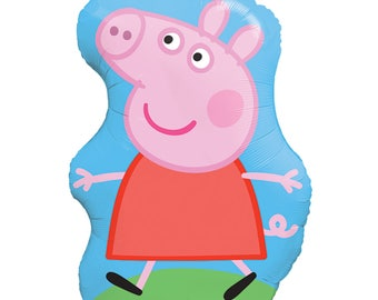 "Peppa Pig Party Decorations - Peppa Pig Foil Balloon - 35"" Peppa Pig Birthday Balloon - Peppa Pig Decorations - Peppa Pig Balloon -"
