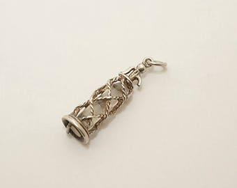 Vintage Sterling/Crystal Seltzer Bottle Charm