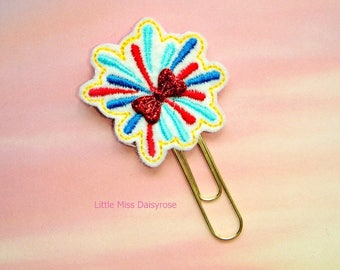 Patriotic Fireworks Planner Clip Paperclip fourth of july