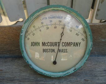Vintage John McCourt Company Thermometer