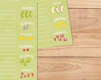 Juicy Fruit - A5 Stationery - 12, 24 or 48 sheets