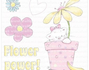 Strawberry Kisses - Flower Power Stamp Set   (Crafters Companion)