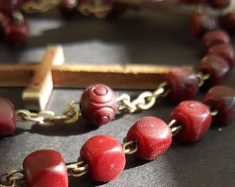 Cherry Amber Bakelite, Rosary