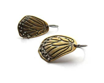 Monarch Butterfly Earrings with 24k Gold