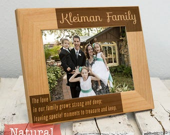 Personalized Family Picture Frame - Personalized Gift for Family - Christmas Gift for Family - Christmas Present for Family - Anniversary