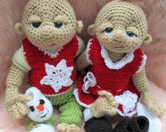 Summer Sale Crochet Pattern Loving Snow Doll Clothes Set for So Cute Baby Doll by Teri Crews Instant Download PDF Format