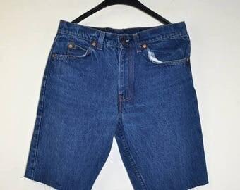 ON SALE Vintage Circa 1984 LEVIS Levi's Cut Off Shorts Jeans Size 31 Levis 509 Cut Unisex