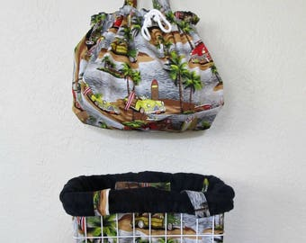 Bicycle Basket Liner Tote Bag