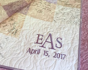 Reserved for Liz - custom wedding guest book quilt