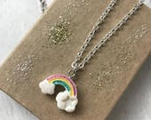 Children's Rainbow Charm Necklace / Rainbow Charm / Kids Jewellery / Rainbow Jewellery / Jewellery for Kids / Gift for Girls / Trending