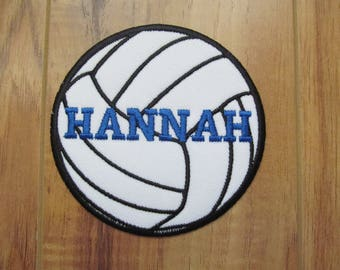 """Personalized Volleyball Patch Monogram Patch Monogram Volleyball Custom Volleyball Custom Patch Name Patch Iron On Patch 4, 5, 6 or 7"""""""