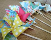 Paper Pinwheels Party Favors Birthday Favors Birthday Decorations Table Centerpiece Party Decoration Baby Shower Decoration Photo Prop