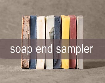 Soap End Sampler - All Natural Soap, Handmade Soap, Cold Process Soap, Unscented Soap