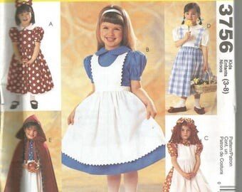 Girls' Costumes Storybook Characters McCall's 3756 Uncut FF Girls' Halloween Costumes