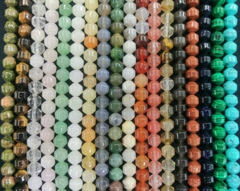 Stone Lantern Beads,Bicone Beads 8x8mm- 50pcs/strand - blue sand,blue turquoise,green aventurine,Carnelian,gray agate,opalite,Indian Agate