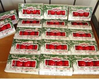 17 Packs of Vintage C9 1/4 Red Christmas Lamp Bulbs by Liberty Bell Christmas 68 Light Bulbs