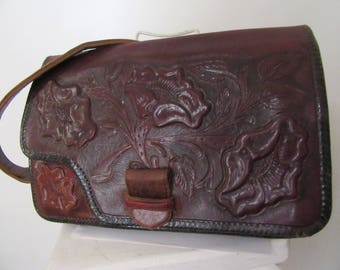 1940s Vintage Tooled Leather Purse